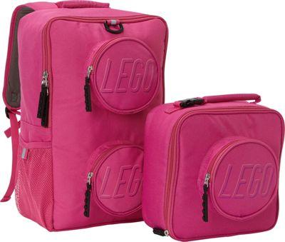 LEGO Brick Backpack Lunch Combo Pink - LEGO Kids' Backpacks