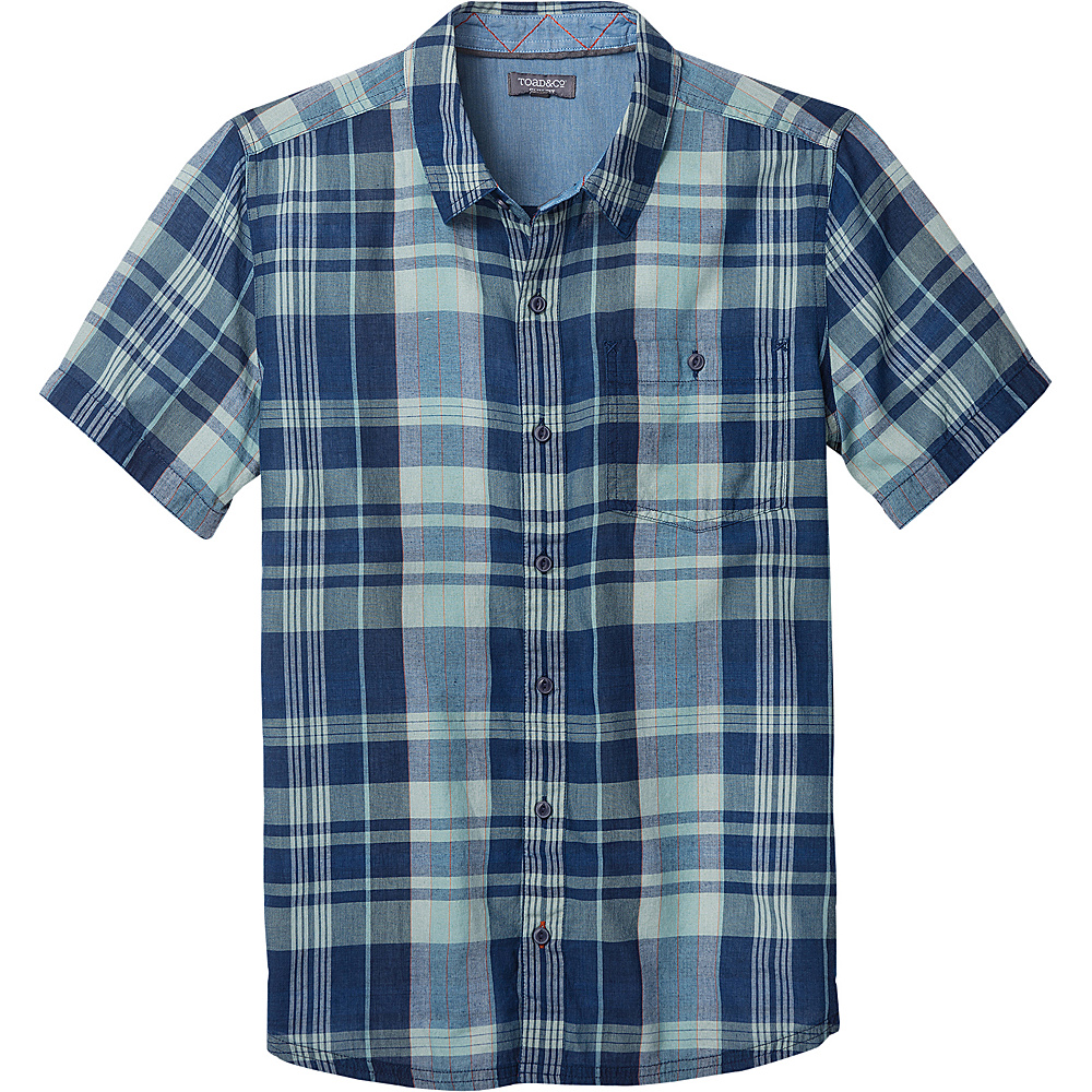 Toad & Co Mens Beckmen Short Sleeve Slim Shirt S - Arctic - Toad & Co Mens Apparel - Apparel & Footwear, Men's Apparel