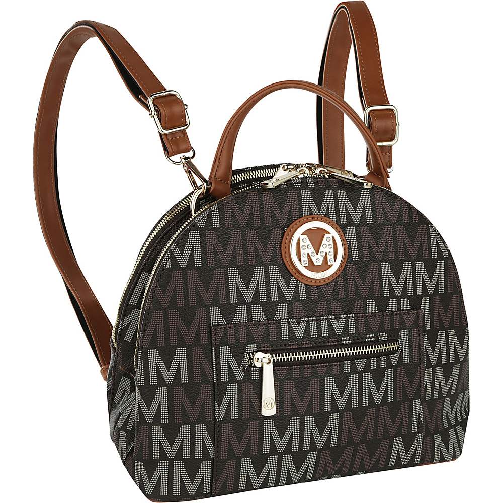 MKF Collection by Mia K. Farrow Ariel 2 in 1 Shoulder Bag and Backpack Brown - MKF Collection by Mia K. Farrow Manmade Handbags - Handbags, Manmade Handbags