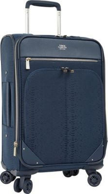 Vince Camuto Luggage Ameliah 24 inch Expandable Spinner Checked Luggage Dark Navy - Vince Camuto Luggage Softside Checked
