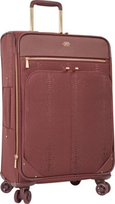 Vince Camuto Luggage Ameliah 24 inch Expandable Spinner Checked Luggage FIG - Vince Camuto Luggage Softside Checked
