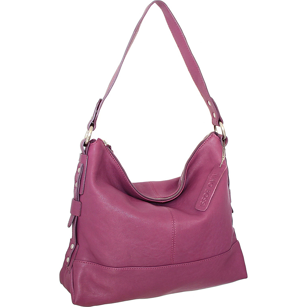 Nino Bossi Emmy Shoulder Bag Plum - Nino Bossi Leather Handbags - Handbags, Leather Handbags