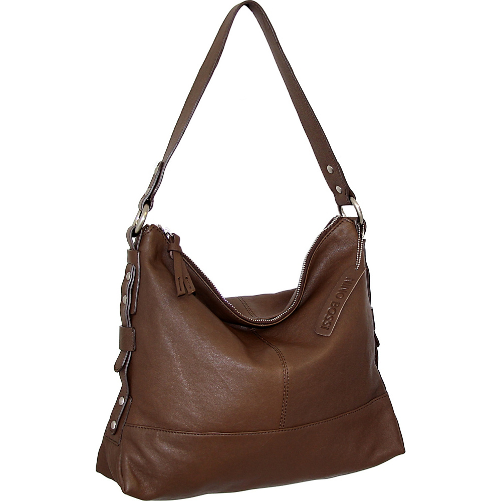 Nino Bossi Emmy Shoulder Bag Brown - Nino Bossi Leather Handbags - Handbags, Leather Handbags