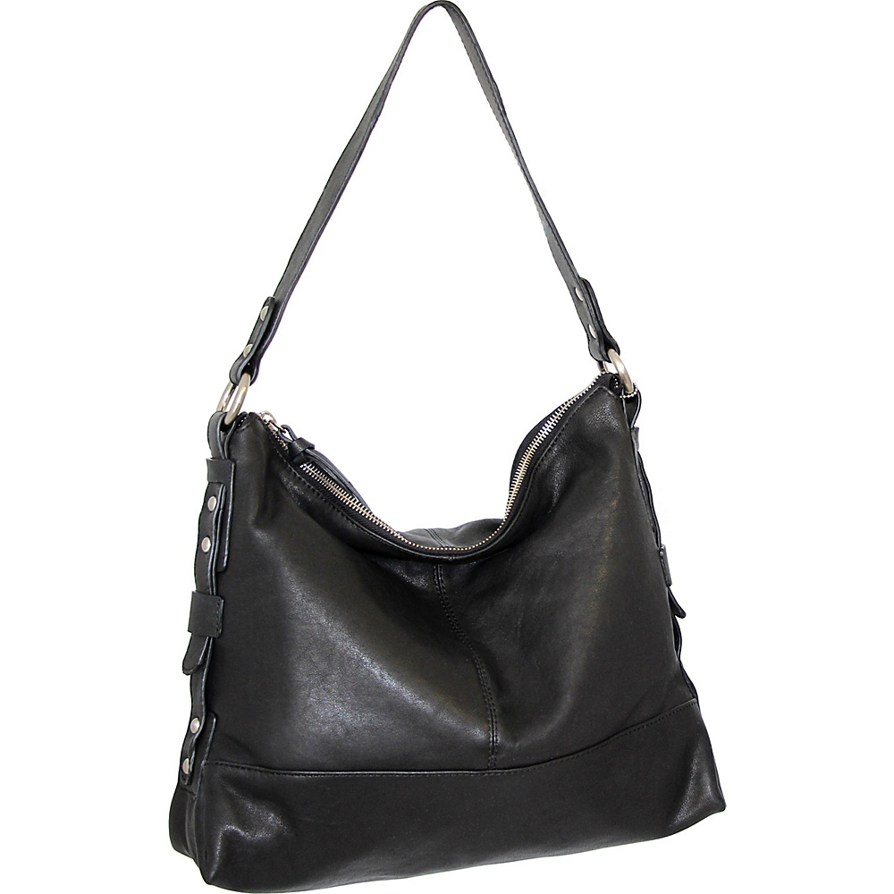 Nino Bossi Emmy Shoulder Bag Black - Nino Bossi Leather Handbags - Handbags, Leather Handbags