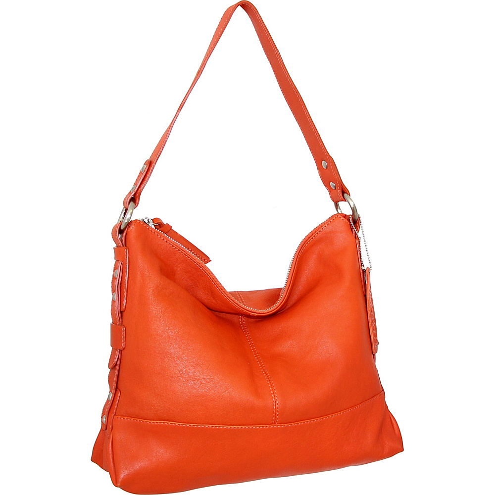Nino Bossi Emmy Shoulder Bag Tangerine - Nino Bossi Leather Handbags - Handbags, Leather Handbags