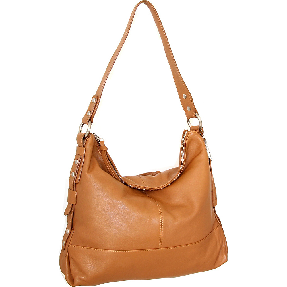 Nino Bossi Emmy Shoulder Bag Cognac - Nino Bossi Leather Handbags - Handbags, Leather Handbags