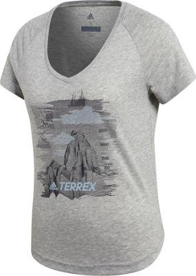 adidas outdoor Womens Mountain Tee Medium Grey Heather - adidas outdoor Women's Apparel 10675662