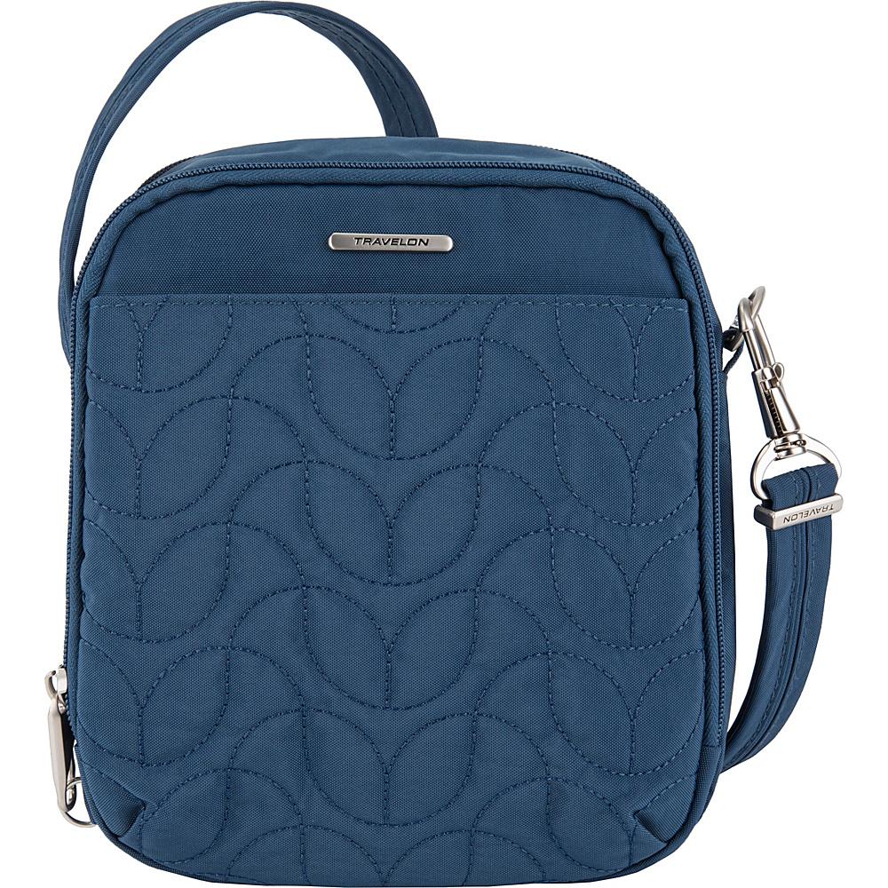 Travelon Anti-Theft Quilted Tour Bag - Exclusive Ocean/Teal Interior - Travelon Fabric Handbags - Handbags, Fabric Handbags