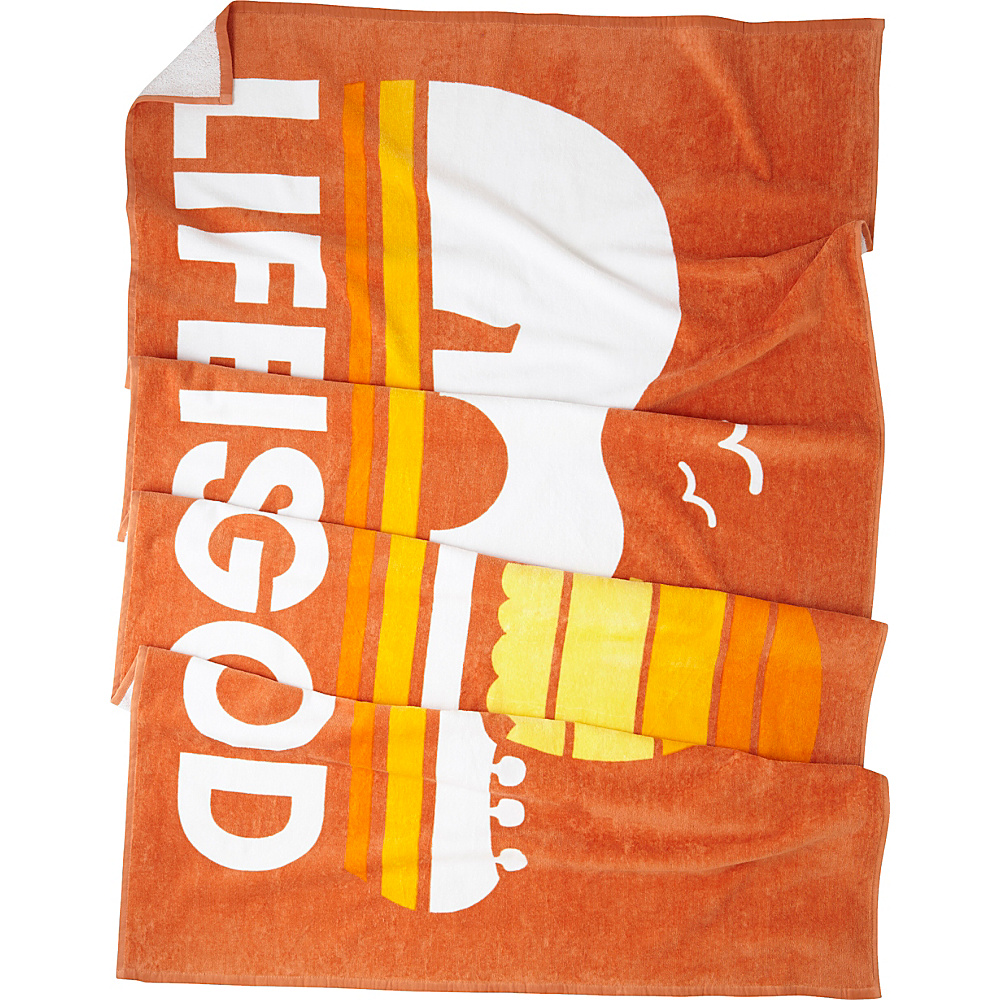 Life is good Beach Towel Sandy Orange - Life is good Travel Pillows & Blankets - Travel Accessories, Travel Pillows & Blankets