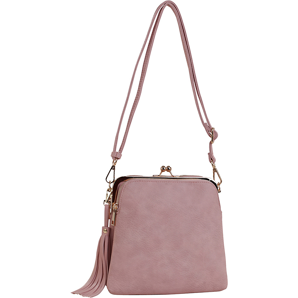 MKF Collection by Mia K. Farrow Samirah Triple Compartment Crossbody/Shoulder Bag Blush - MKF Collection by Mia K. Farrow Manmade Handbags - Handbags, Manmade Handbags