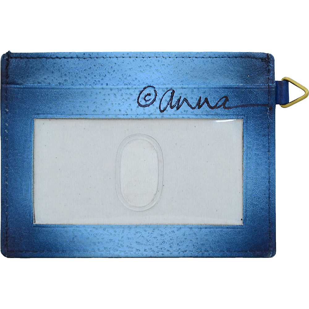 ANNA by Anuschka Hand Painted Credit Card Holder Women/'s Wallet NEW