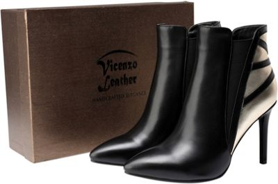 Vicenzo Leather Sinclair Leather Ankle Boots 7 - Black - Vicenzo Leather Women's Footwear