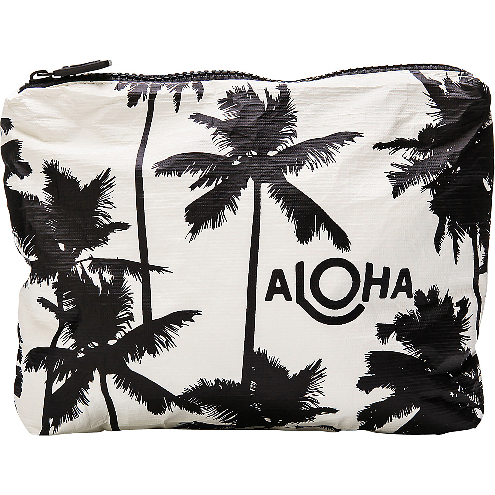 Image of ALOHA Collection Small Wet/Dry Pouch- Coco Palms Coco Palms Black - ALOHA Collection Packable Bags