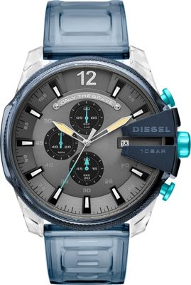 Diesel Watches Men's Mega Chief Chronograph Blue Silicone...