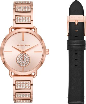 Michael Kors Watches Women's Portia Rose Gold-Tone Stainl...