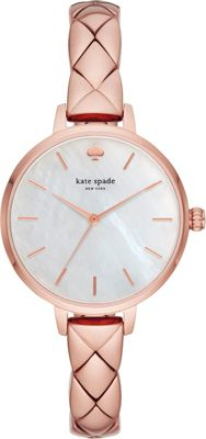 kate spade watches Metro Three-Hand Rose Gold-Tone Stainl...