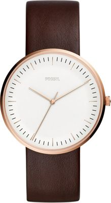 Fossil Essentialist Three-Hand Java Leather Watch Brown -...
