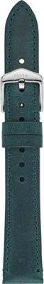 Fossil 16mm Teal Green Leather Strap Green - Fossil Watches