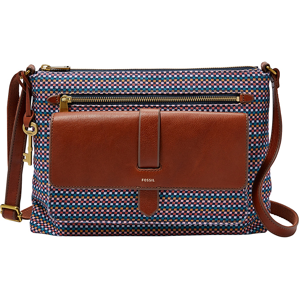 Fossil Kinley Crossbody Compare Prices At Nextag Small Brown Teal Fabric Handbags