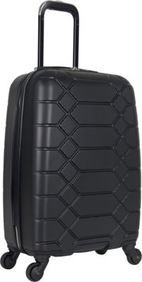 "Image of Aimee Kestenberg Diamond Anaconda 20"" Lightweight Hardside Spinner Carry-On Black with Silver Hardware - Aimee Kestenberg Hardside Carry-On"