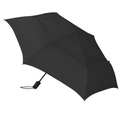 ShedRain WindPro Flat Vented Auto Open & Close Umbrella - Solid Colors Black - ShedRain Umbrellas and Rain Gear