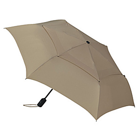WindPro Flat Vented Auto Open & Close Umbrella - Solid Colors Khaki