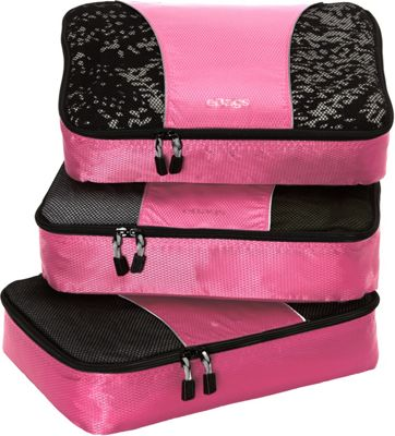 eBags Medium Packing Cubes - 3pc Set Peony - eBags Travel Organizers
