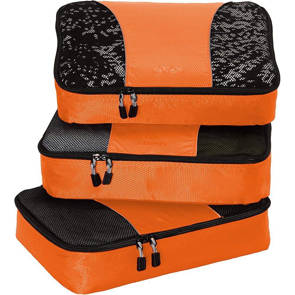 eBags Medium Packing Cubes - 3pc Set Tangerine - eBags Travel Organizers - Travel Accessories, Travel Organizers
