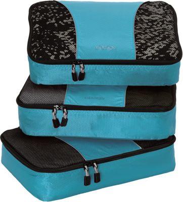 eBags Medium Packing Cubes - 3pc Set Aquamarine - eBags Travel Organizers