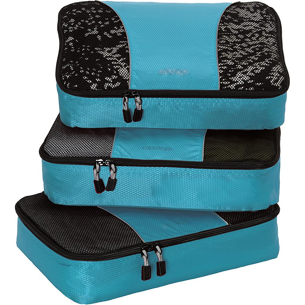 eBags Medium Packing Cubes - 3pc Set Aquamarine - eBags Travel Organizers - Travel Accessories, Travel Organizers