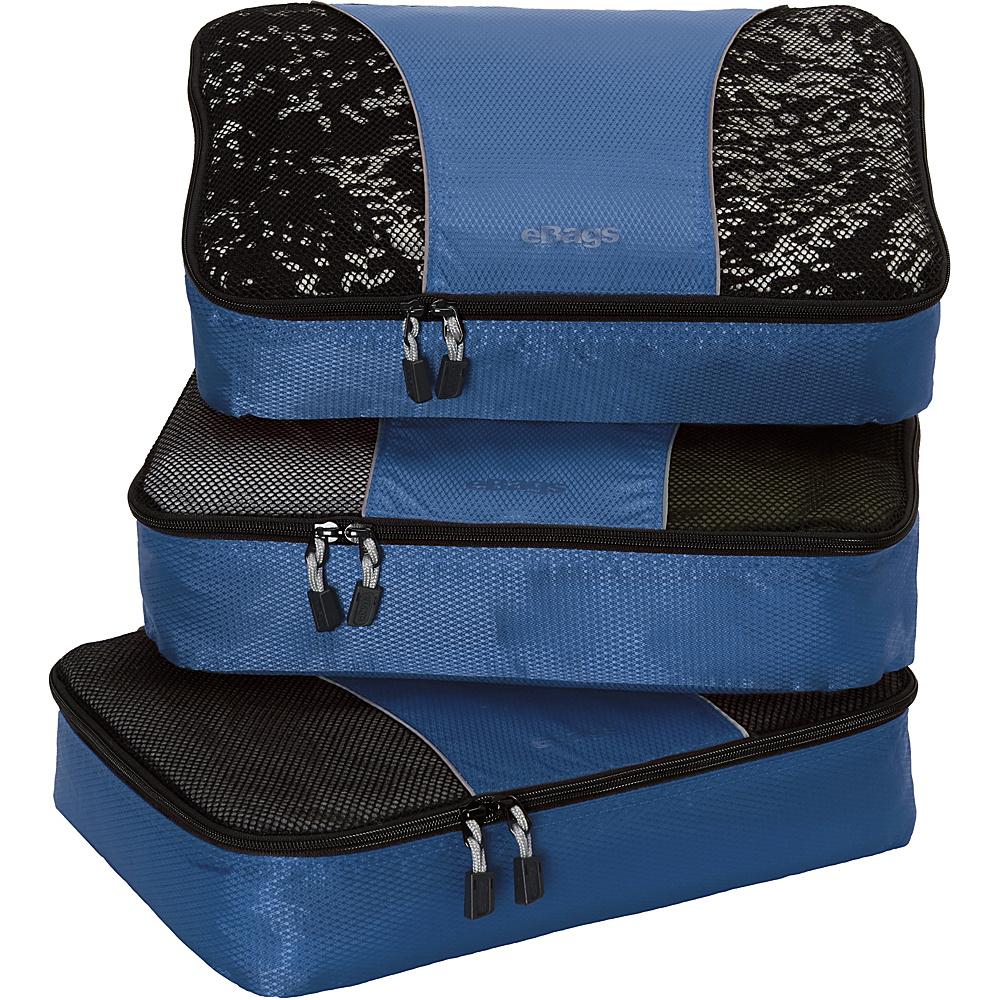 eBags Medium Packing Cubes - 3pc Set - Denim - Travel Accessories, Travel Organizers