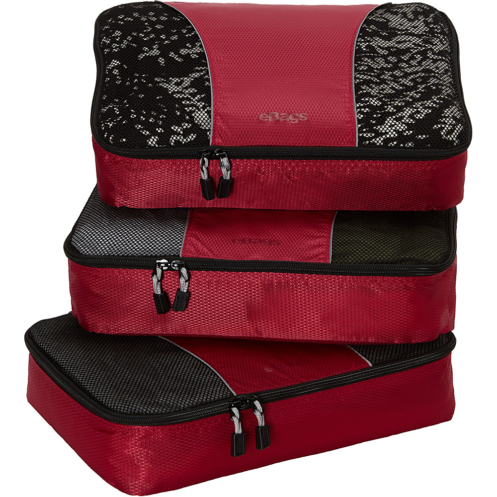 eBags Medium Packing Cubes 3 piece set - eBags Travel Organizer - Travel Accessories, Travel Organizers