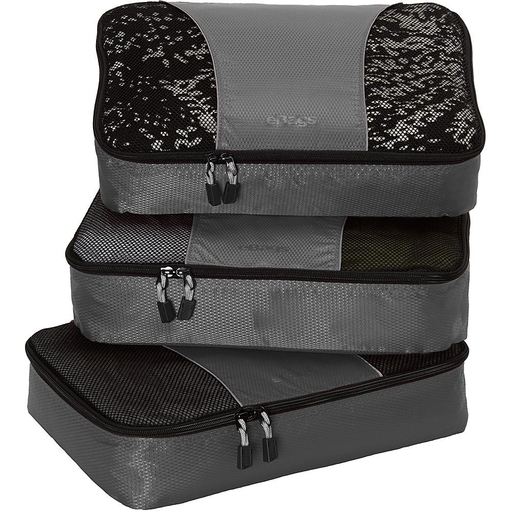 eBags Medium Packing Cubes - 3pc Set - Titanium - Travel Accessories, Travel Organizers