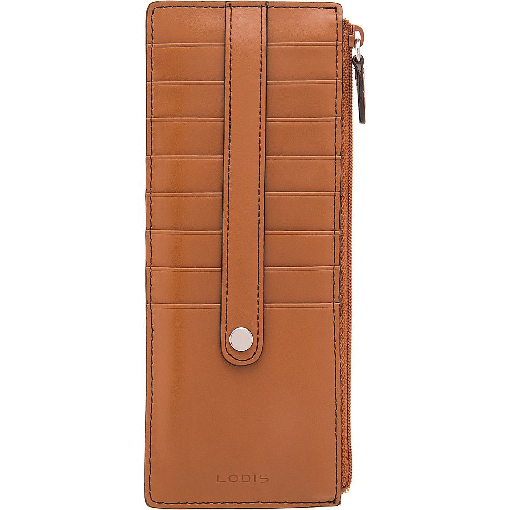 Lodis Audrey RFID Credit Card Case With Zip Pocket Toffee - Lodis Womens Wallets - Women's SLG, Women's Wallets