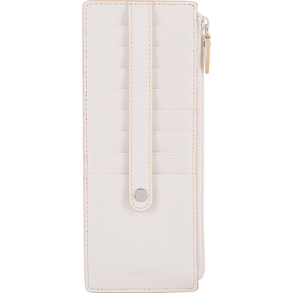 Lodis Audrey RFID Credit Card Case With Zip Pocket Cream/Natural - Lodis Womens Wallets - Women's SLG, Women's Wallets