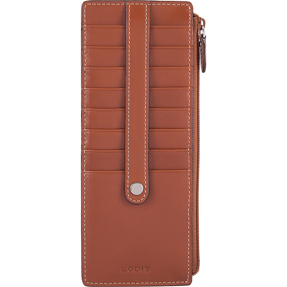 Lodis Audrey RFID Credit Card Case With Zip Pocket Sequoia/Papaya - Lodis Womens Wallets - Women's SLG, Women's Wallets