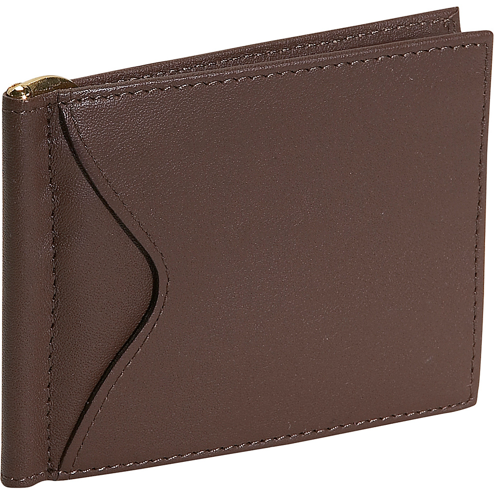 Royce Leather Mens Cash Clip Wallet - Coco - Work Bags & Briefcases, Men's Wallets