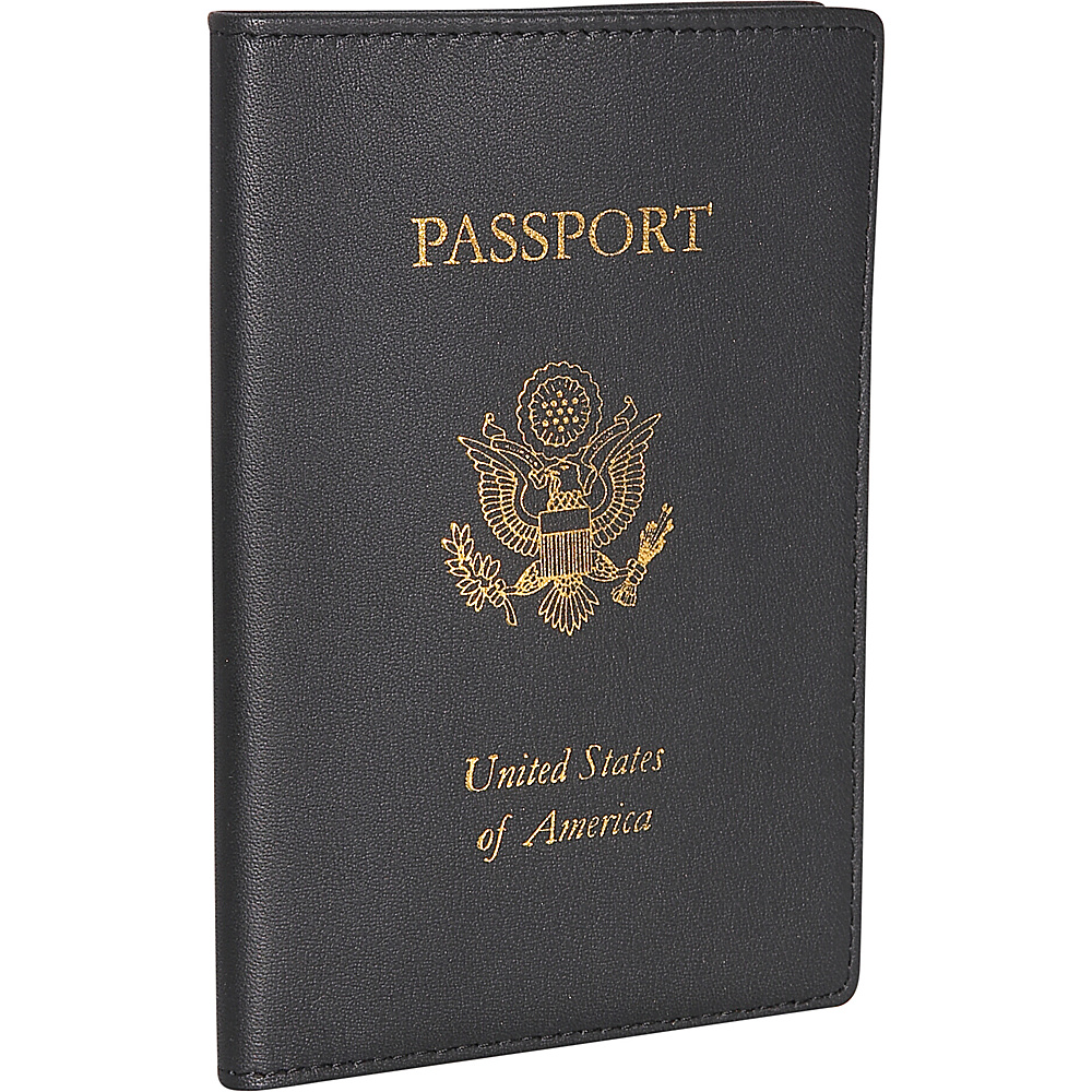 Royce Leather Passport Jacket - Black - Travel Accessories, Travel Wallets