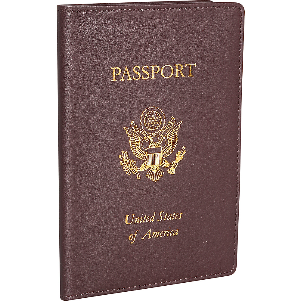 Royce Leather Passport Jacket - Burgundy - Travel Accessories, Travel Wallets