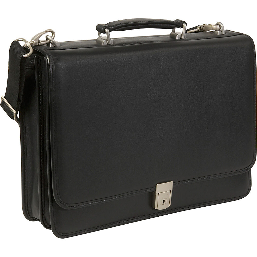 McKlein USA Bucktown Leather 17 Laptop Case - Black - Work Bags & Briefcases, Non-Wheeled Business Cases