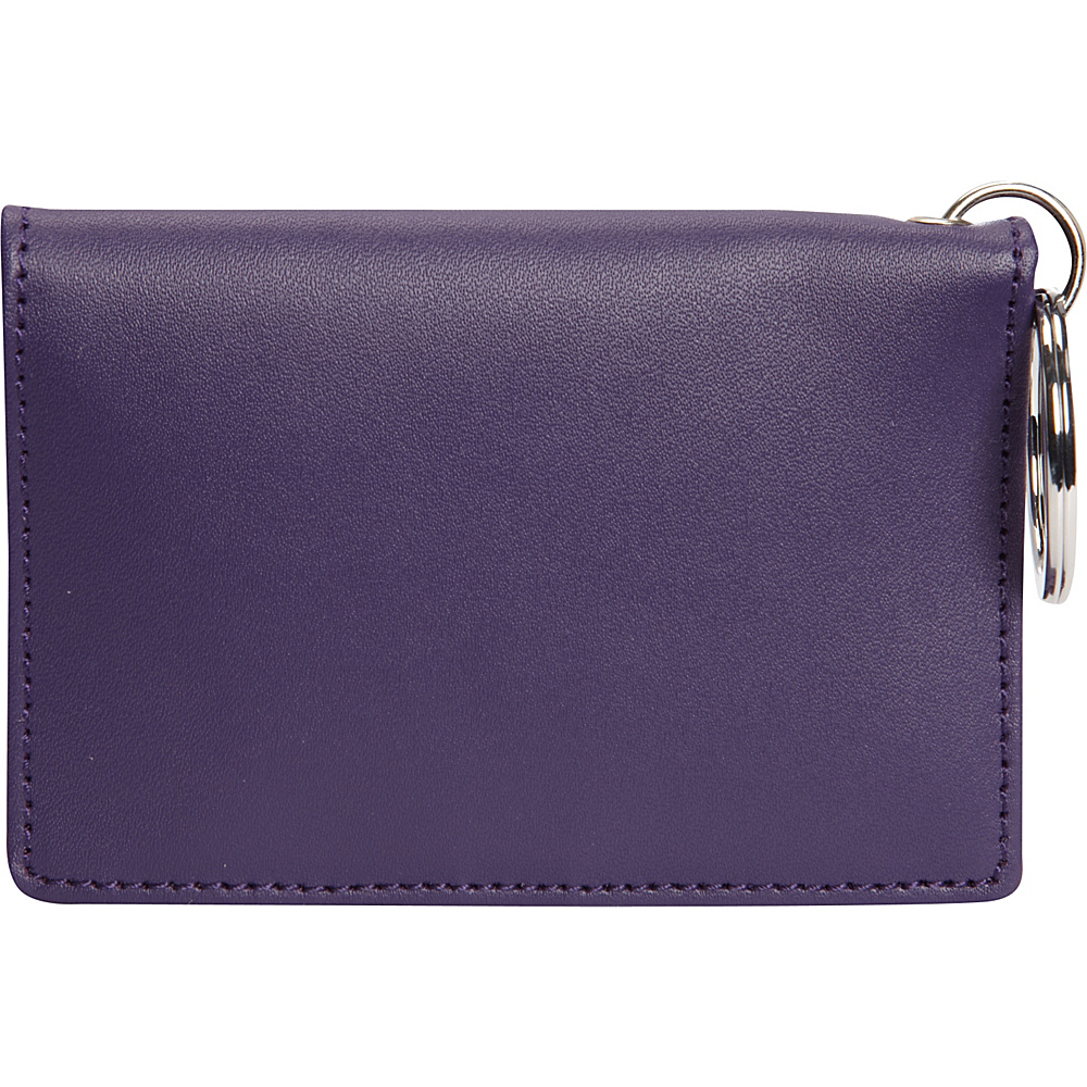 Clava ID/Keychain Wallet - Colors - CI Purple - Women's SLG, Women's Wallets