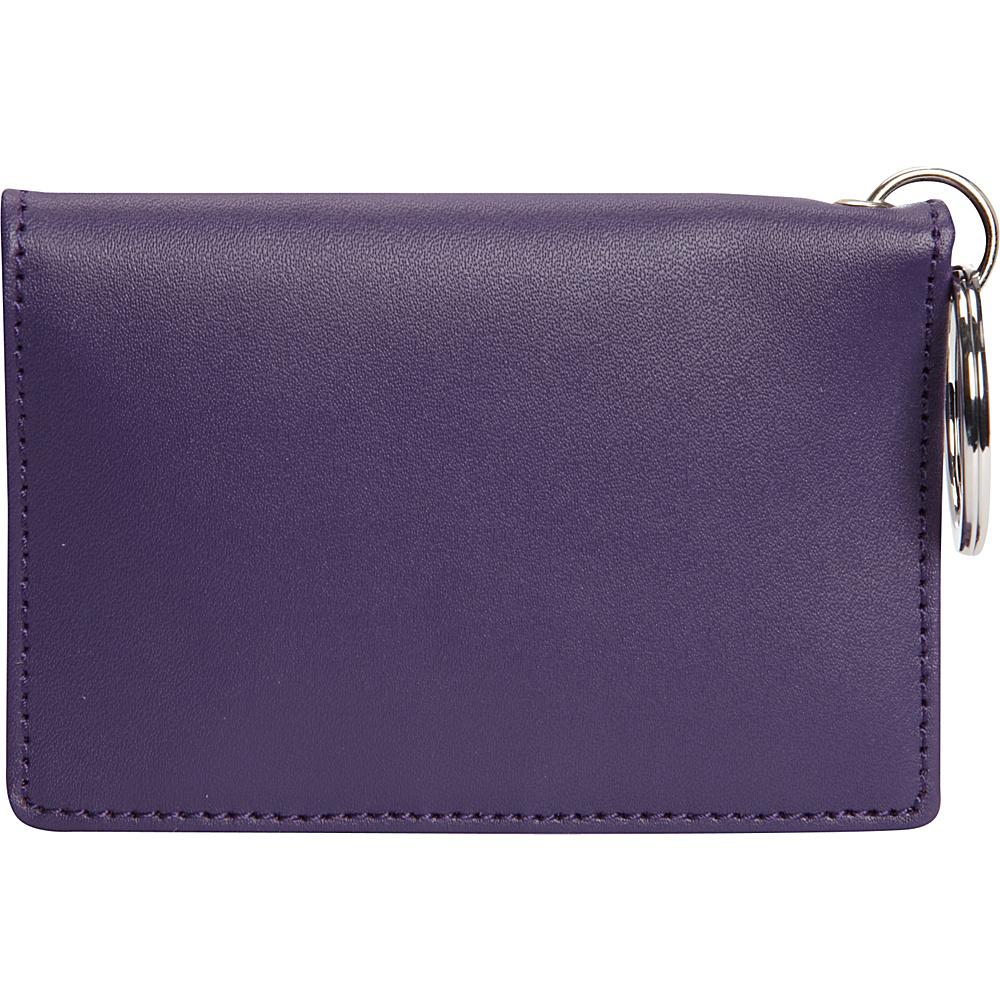 Clava ID/Keychain Wallet - Colors - CI Purple - Women's SLG, Women's Wallets