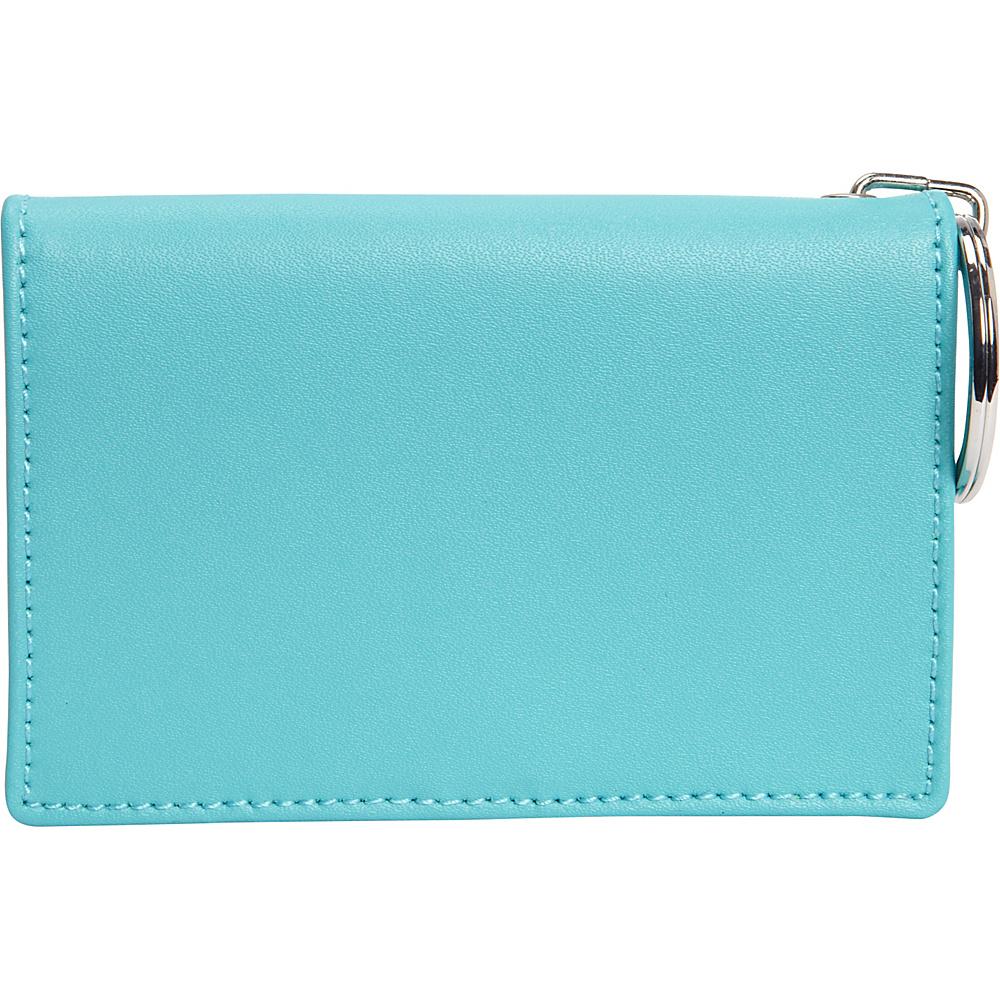 Clava ID/Keychain Wallet - Colors - Aqua - Women's SLG, Women's Wallets