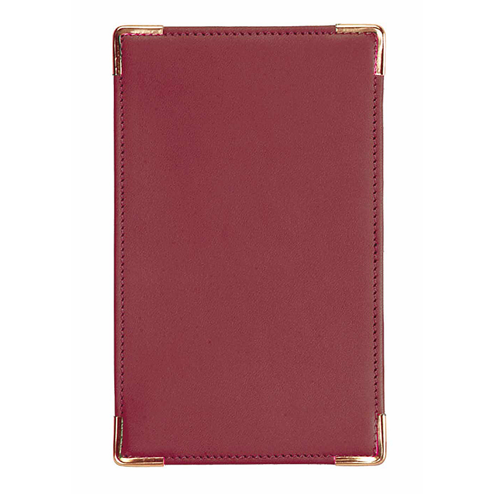 Royce Leather Pocket Jotter - Burgundy - Work Bags & Briefcases, Business Accessories