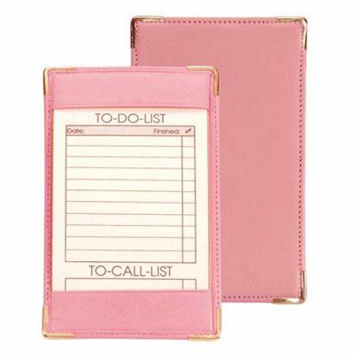 Royce Leather Pocket Jotter - Carnation Pink
