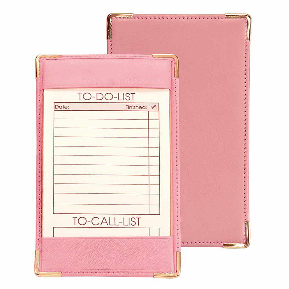 Royce Leather Pocket Jotter - Carnation Pink - Work Bags & Briefcases, Business Accessories