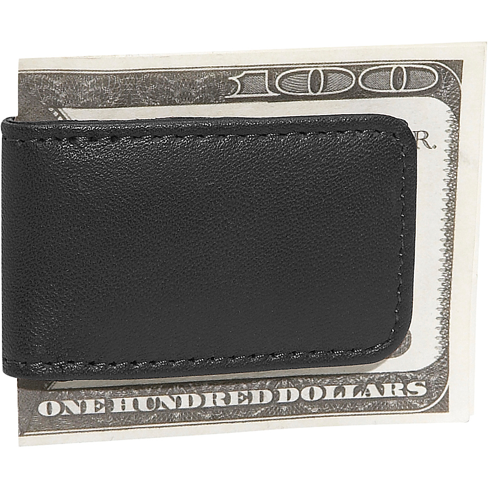 Royce Leather Magnetic Money Clip - Black - Work Bags & Briefcases, Men's Wallets