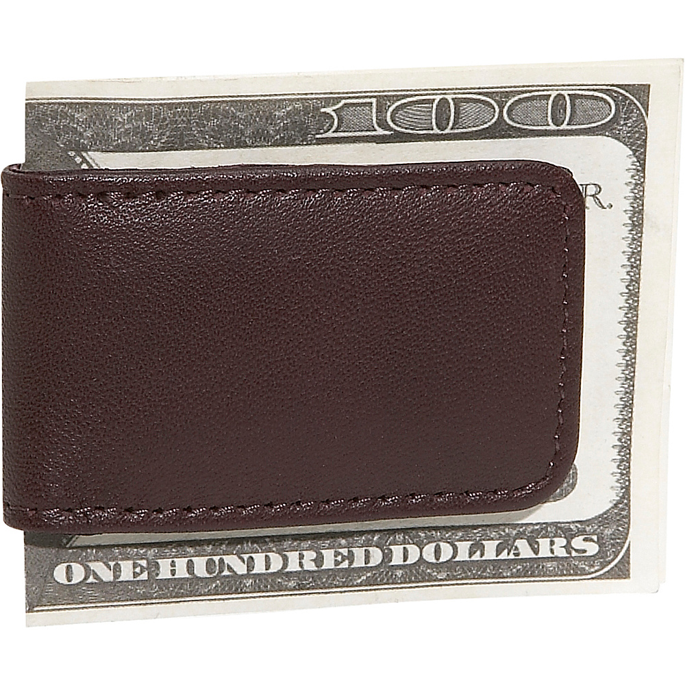 Royce Leather Magnetic Money Clip - Burgundy - Work Bags & Briefcases, Men's Wallets