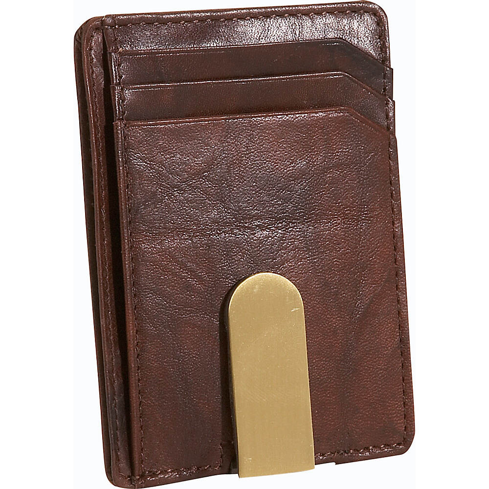 Buxton Lexington II Front Pocket Wallet - Brown - Work Bags & Briefcases, Men's Wallets