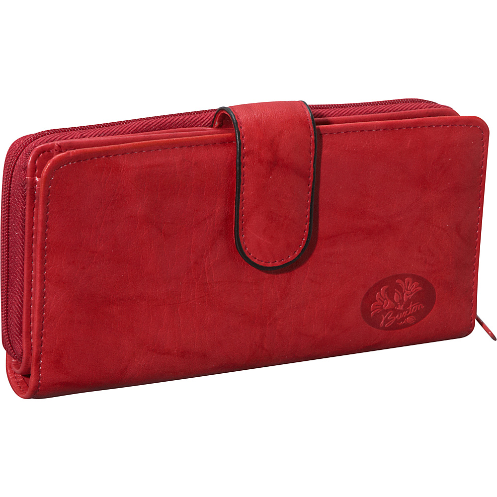 Buxton Heiress Checkbook Clutch Red - Buxton Women's Wallets